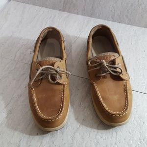Sperry Top Siders boat shoes. Tan